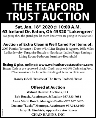 The Teaford Trust Auction