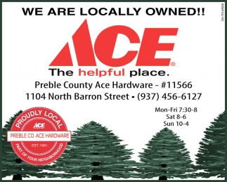 We are locally owned!