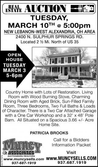 Real Estate Auction - March 10th