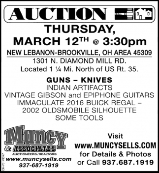 Guns - Knives Auction - March 12th