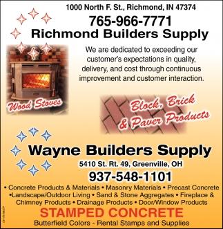 Pavers Products Richmond Builders Supply Wayne Builders Supply Richmond In