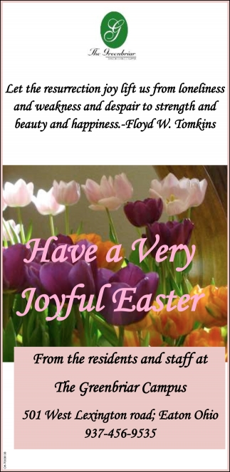 Have a Very Joyful Easter