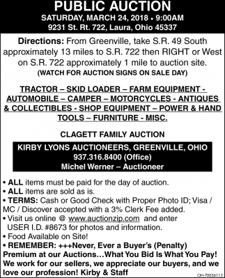 Public Auction