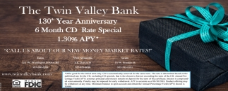 130th Year Anniversary 6 Month CD Rate Special