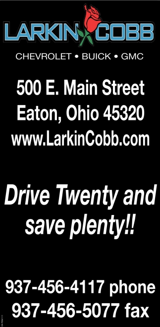 Drive Twenty and save plenty