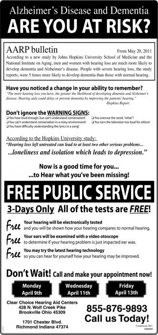 Free Public Service