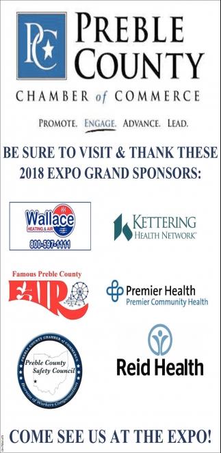 2018 Expo Grand Sponsors