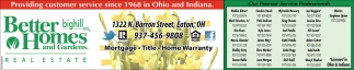 Providing customer service since 1968 in ohio and indiana better homes and gardens real estate for Better homes and gardens customer service