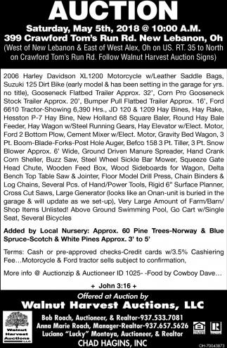 Harley Davidson, Suzuki, Trailer, Tractor