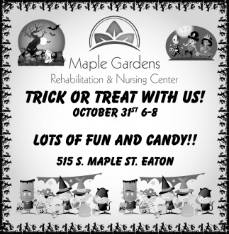 Trick or Treat With Us!