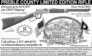 Preble County Limited Edition Rifle