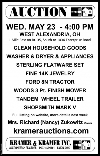 Appliances, Jewelry, Tractor, Mower
