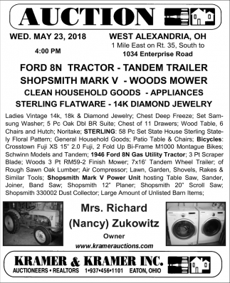 Tractor, Trailer, Mower, Appliances