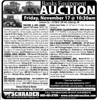 Banks Equipment Auction