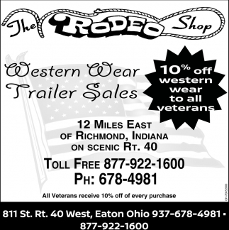 Western Wear, Equipment, Trailer Sales