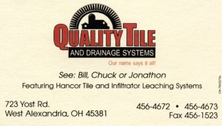 Featuring Hancor Tile and Infiltrator Leaching Systems