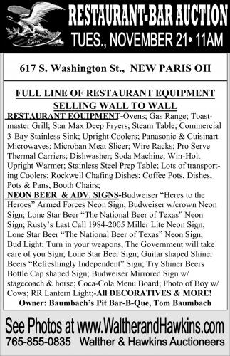 Restaurant-Bar Auction