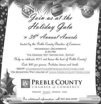 Holiday Gala 36th Annual Awards