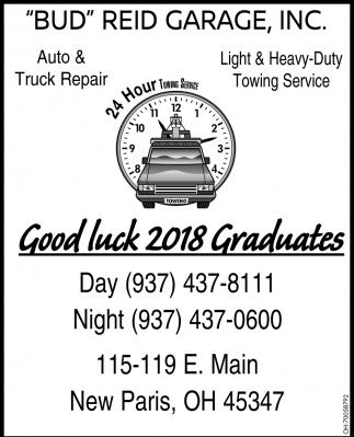 Good luck 2018 Graduates