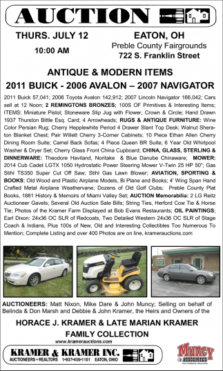 2011 Buick, 2006 Avalon, 2007 Navigator