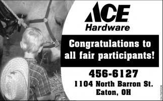 Congratulations to all fair participants!