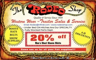 Western Wear, Equipment, Trailer Sales