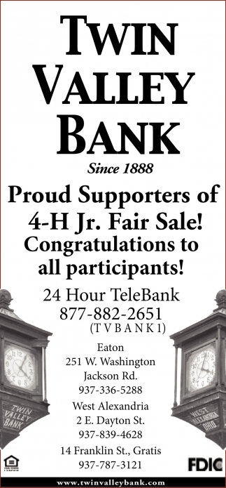 4-H Jr. Fair Sale!