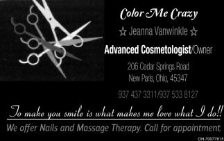 Jeanna Vanwinkle Advanced Cosmetologist/Owner