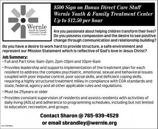 Direct Care Staff