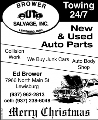 New & Used Auto Parts, Brower Salvage, Inc