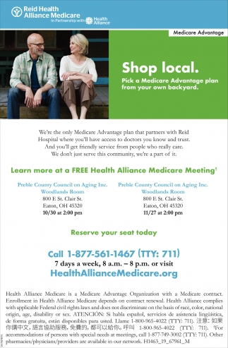 Free Health Alliance Medicare Meeting