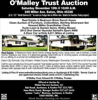 O'Malley Trust Auction