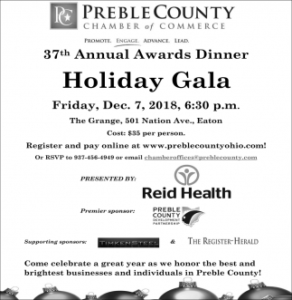 37th Annual Awards Dinner Holiday Gala
