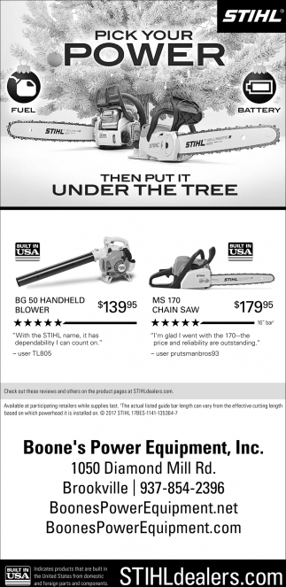 Stihl, pick your power
