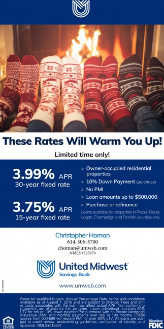 These Rates Will Warm You Up!
