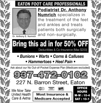 Podiatrist Dr. Anthony Numrich