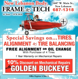 Special Savings on Tires, Alignment & Tire Balancing