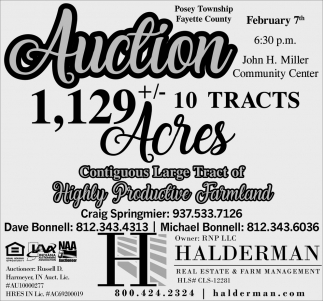Auction February 7th