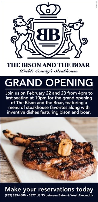 Grand Opening February 22 - 23