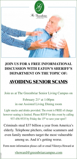 Avoiding Senior Scams - February 21